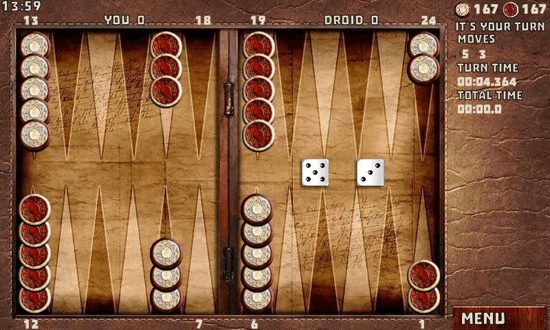 Backgammon to lose game